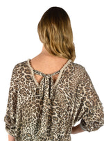 Leopard Print Tunic with Bow on Back