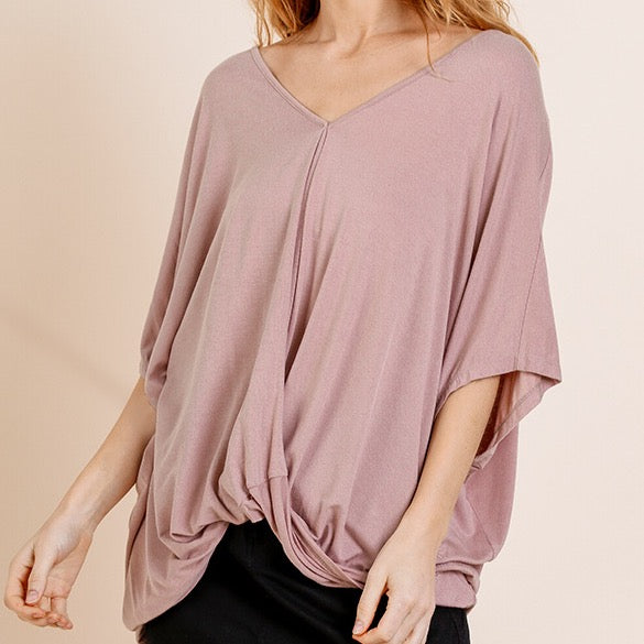 Relaxed Fit Surplice Top
