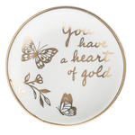 Gold and White Trinket Dish