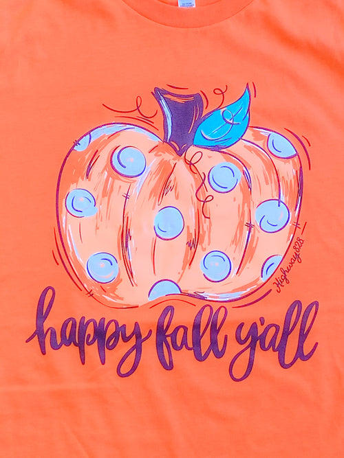 Happy Fall Y'all Pumpkin Tee