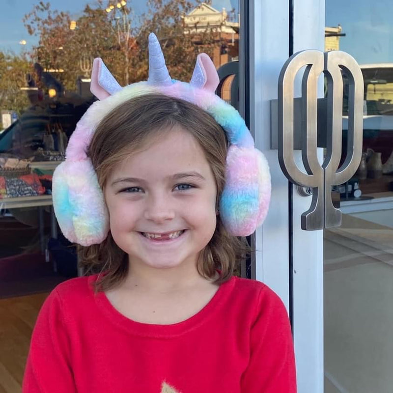 Kids Unicorn Faux Fur Earmuffs