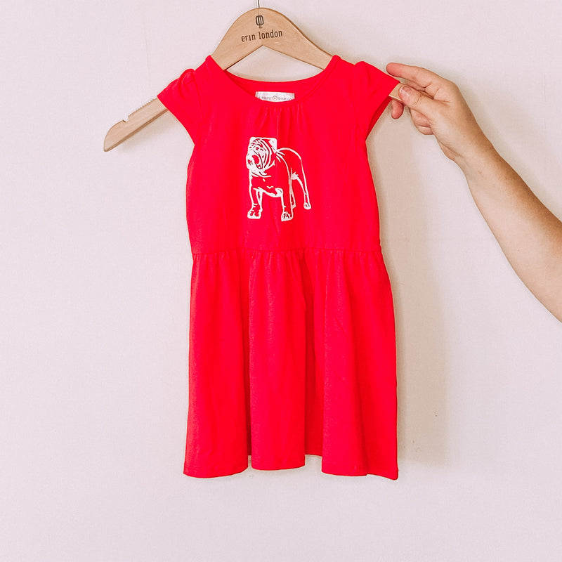 Kids Red Bulldog Dress