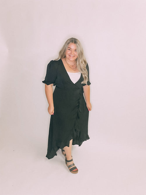 Black Miranda Wrap Dress