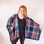 Multi Plaid Cape