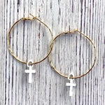 Flair Hoop Earring-Cross