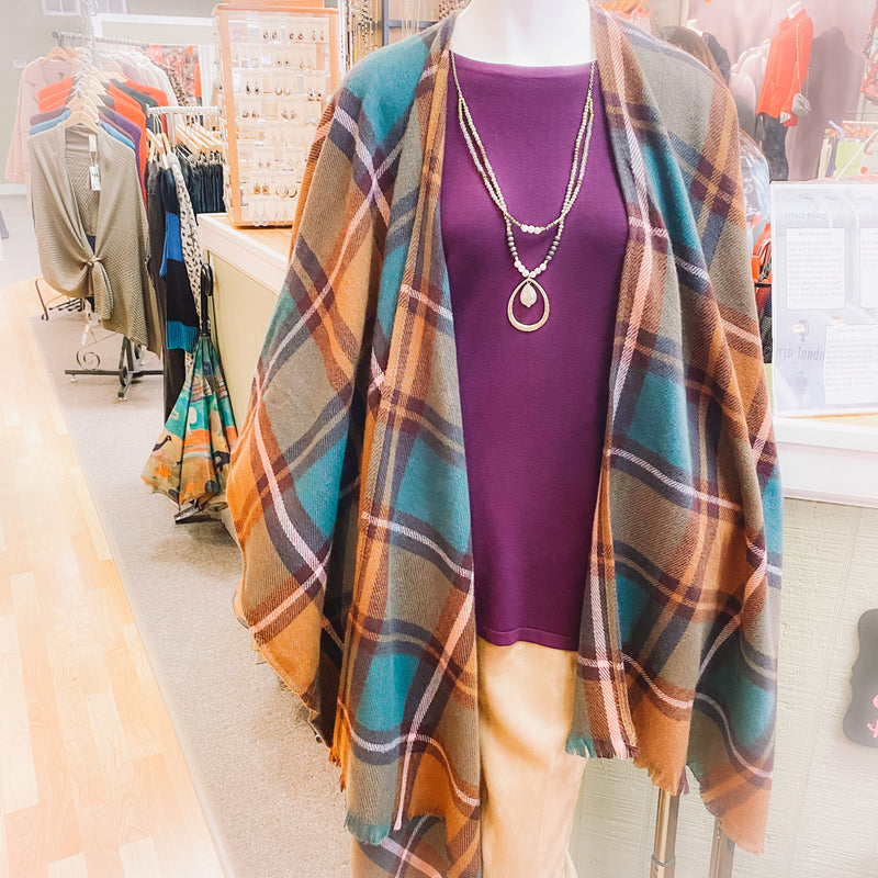 Fall Plaid Cape