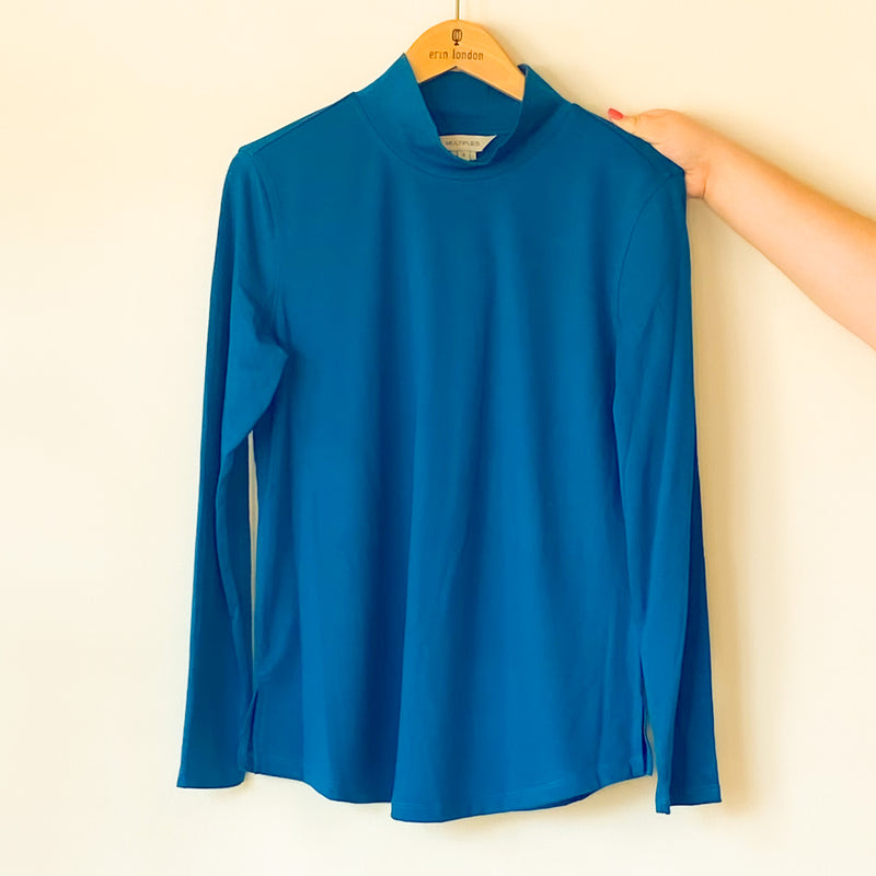 Knit Mock Shaped Hem Top