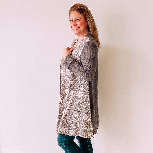 Get Grounded Knit Cardigan-Putty