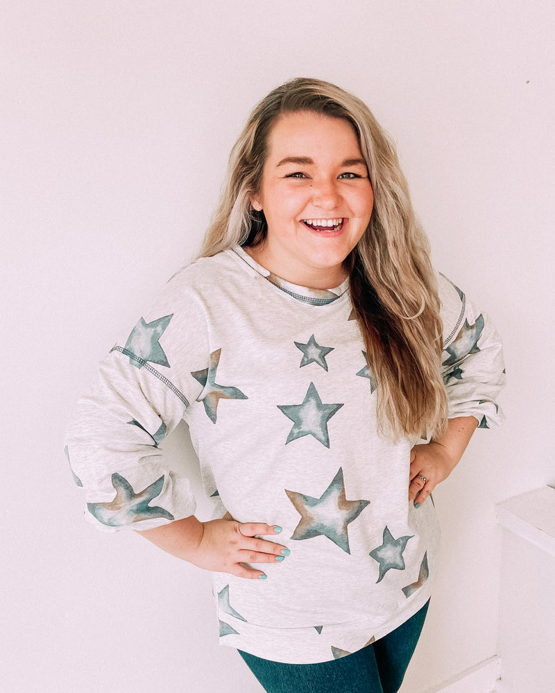Denim Star Sweatshirt