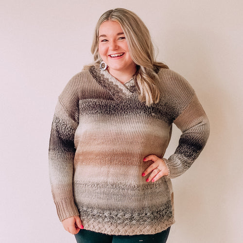 Northern Lights Sweater-Black Taupe