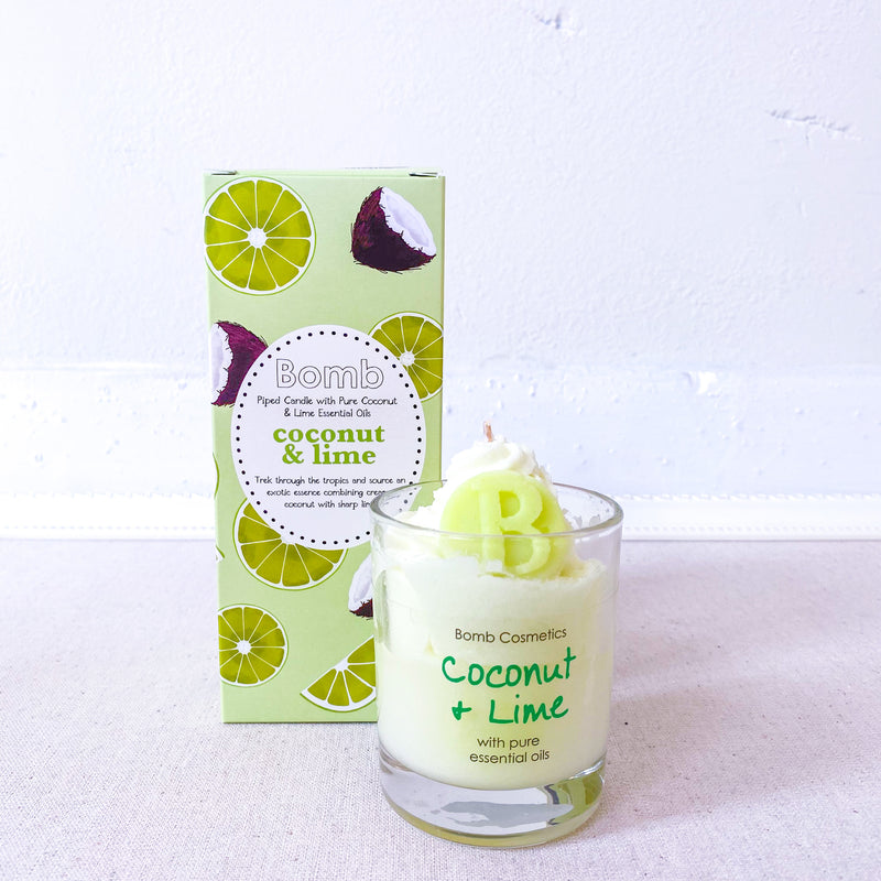 Piped Candle- Coconut & Lime