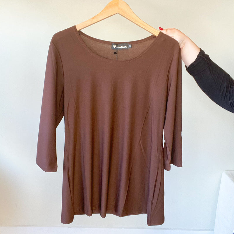 A-Line 3/4 Sleeve Top