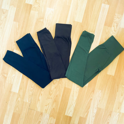 Solid Fleece Lined Legging