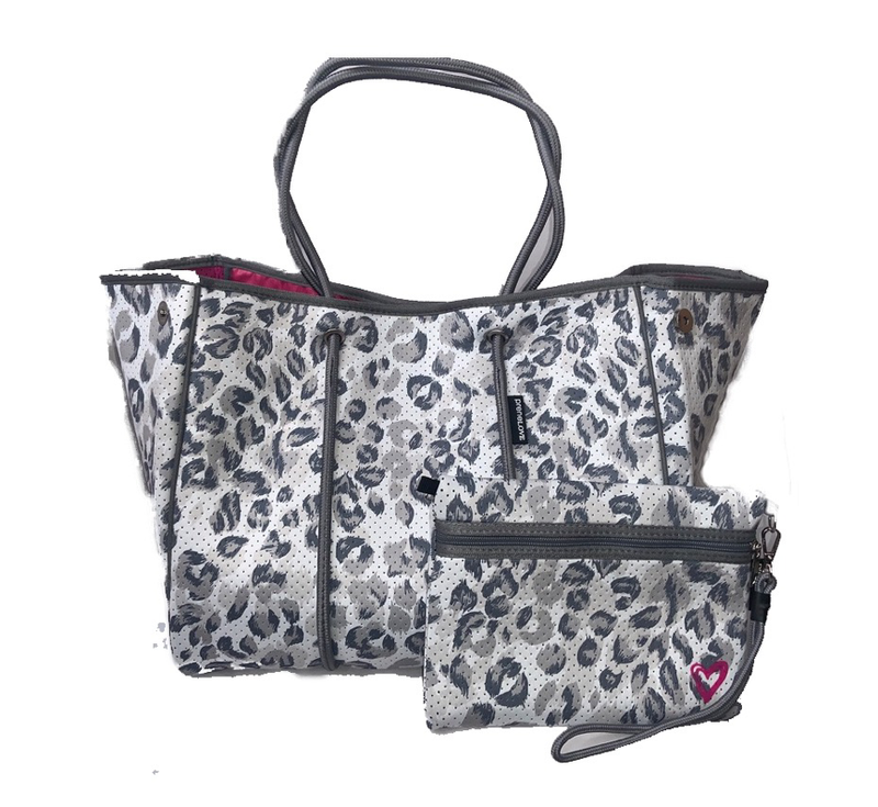 Large Neoprene Tote-Yorkville Pink
