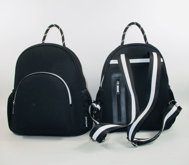 Neoprene Backpack-Langley Black/White
