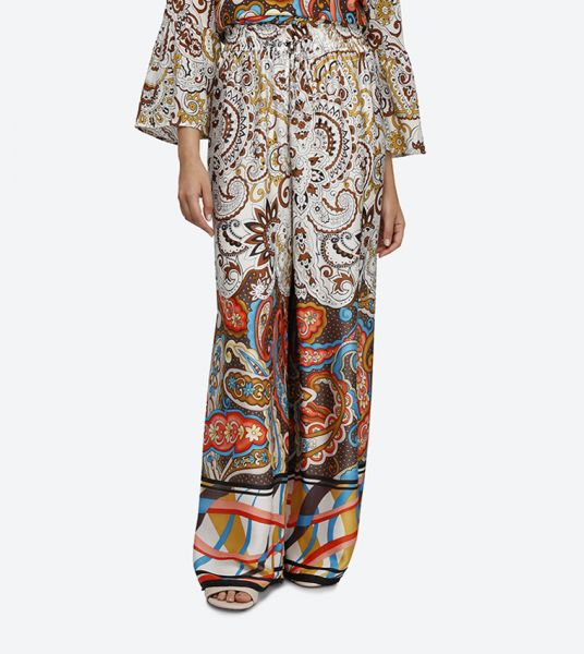 Seden Drawstring Printed Palazzo Trousers