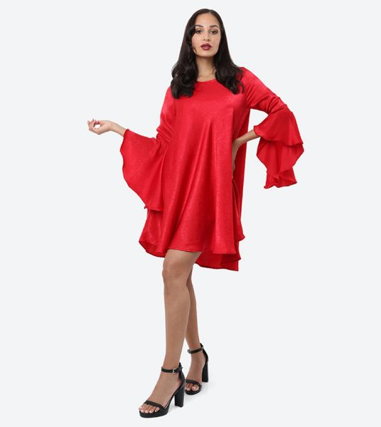Seden Plain Satin Long Blouse