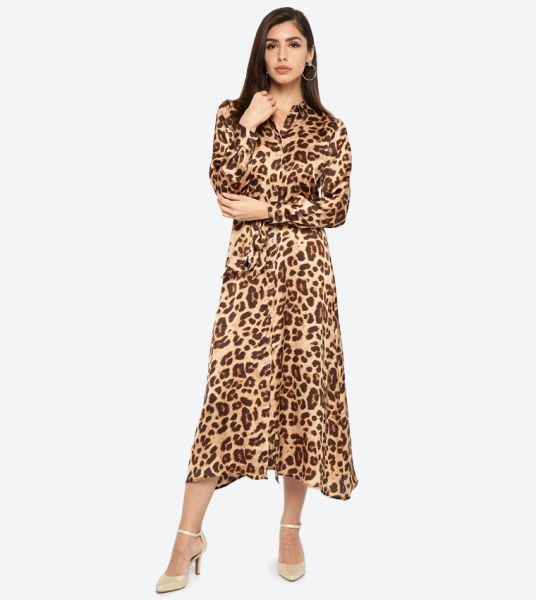 Seden Animal Print Long Sleeves Shirt