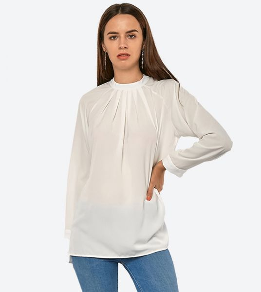 Seden Plain Pleated Blouse