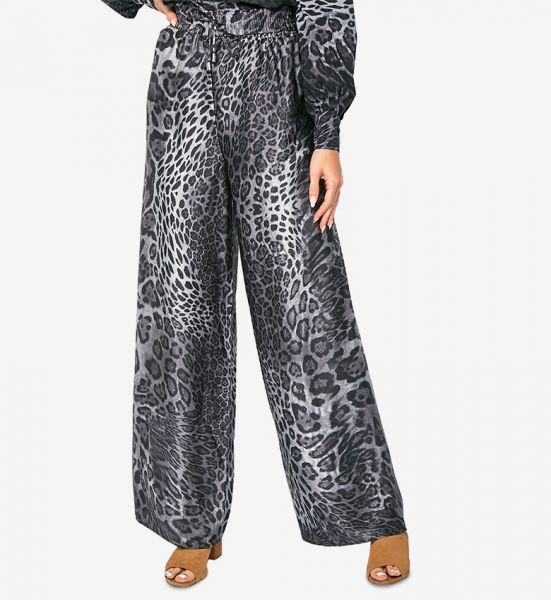 Printed Elasticated Waist Casual Pants