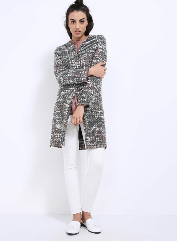 Seden Tweeted Wool Fabric Over Coat
