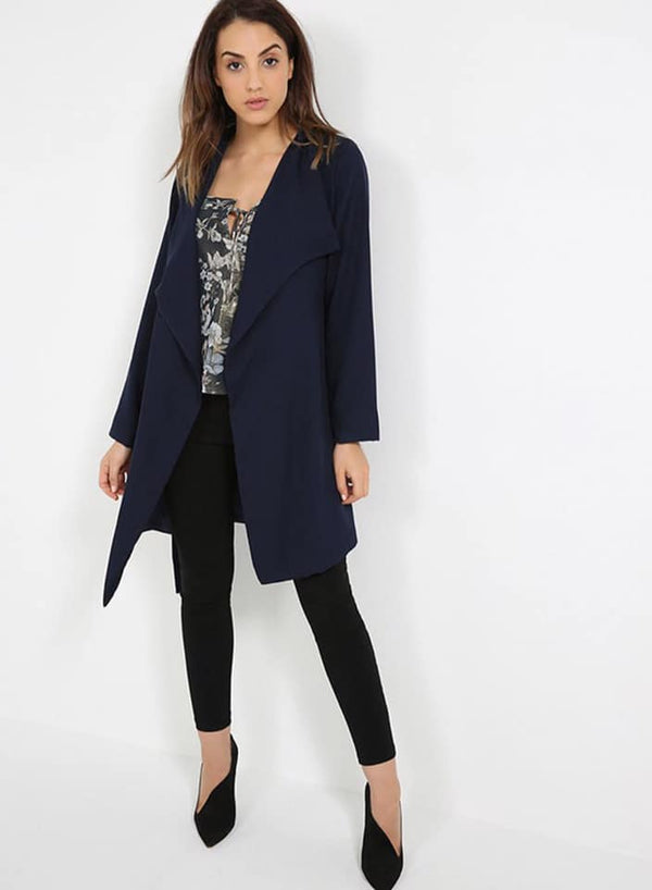 Seden Aysmmetric Long Sleeve Coat