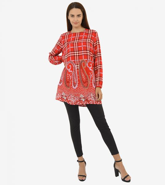 Seden Printed Cotton Blouse