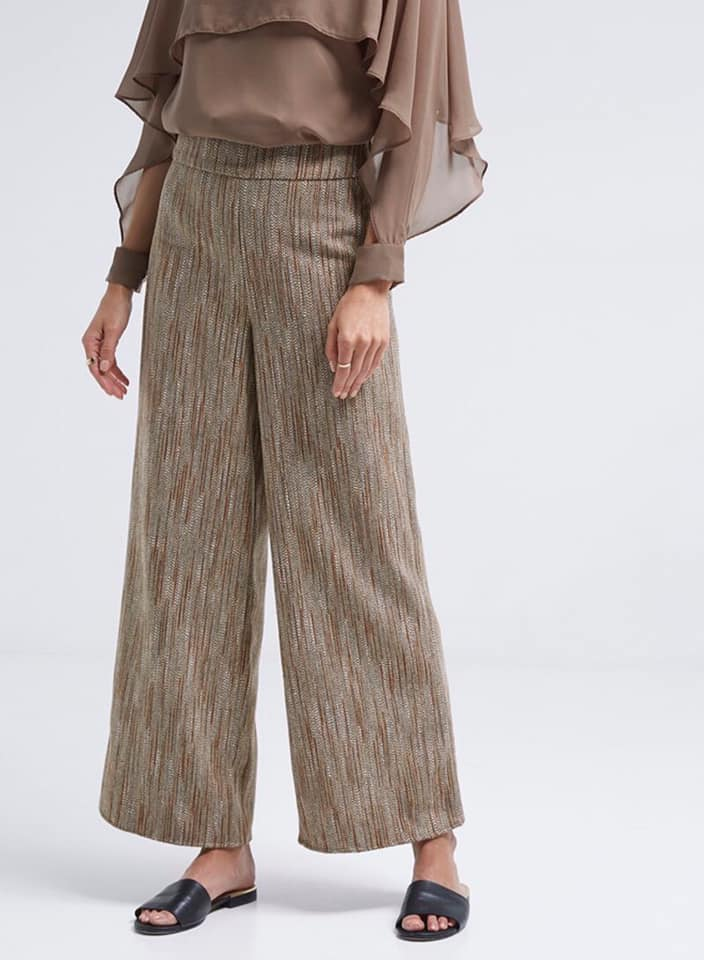 Seden Tweeted Woollen Pants Multicolour