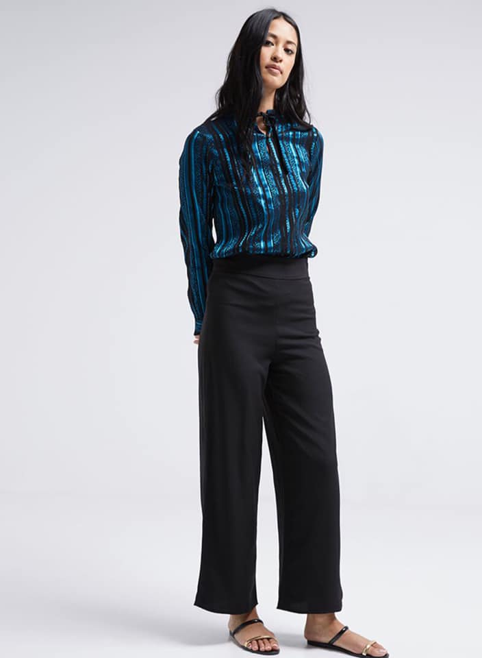 Seden Side Zipper Palazzo Pants