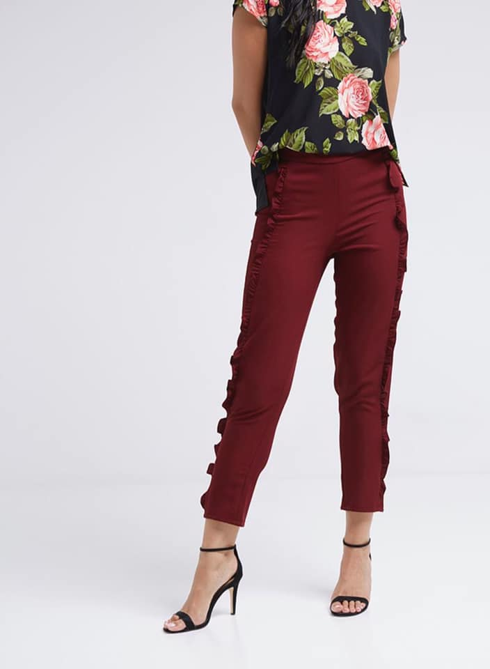 Seden Paneled Ruffled Pants