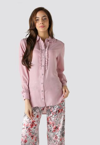 Seden Plain Frilled Shirt