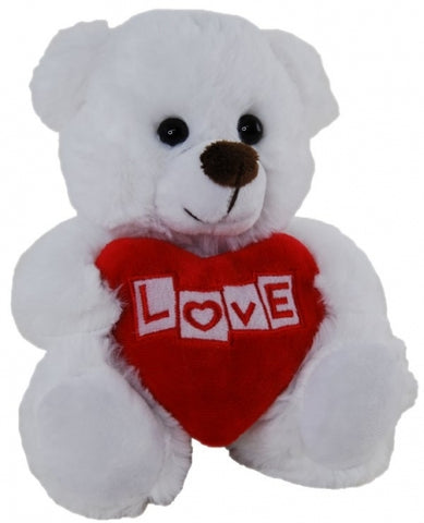 "Plush Bears' with ""Love"" Heart"