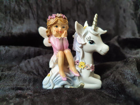 Flower Fairy Girl on Unicorn