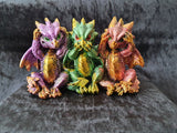 Wise Colourful Baby Dragons (9cm)