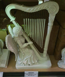 Angel with Musical Harp Windchime (39cm)