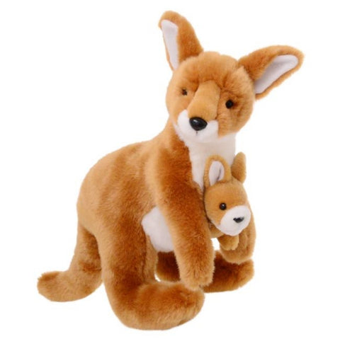 Plush Animalia Kangaroo with Joey