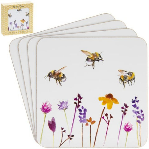 Busy Bees Set of 4 Coasters (11cm)
