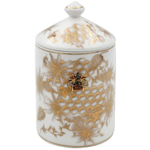 Honeycomb Bees Candle Jar