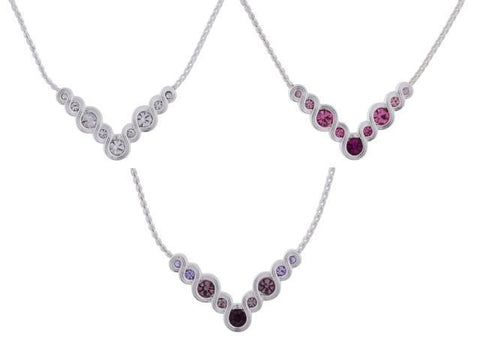 Diamond Swirl Equilibrium Necklace (3 Asstd)
