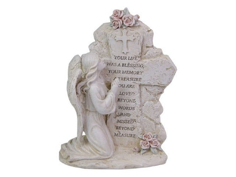 Angel Kneeling Inspirational Plaque (20cm)