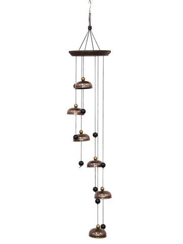 6 Brass bells Spiral Wind Chime