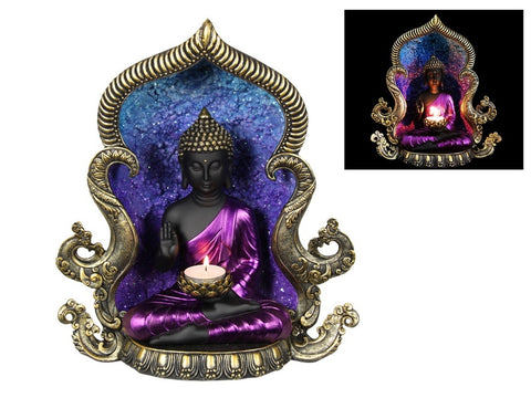 Rulai Buddha Cave Temple Backflow Burner & Candle Holder