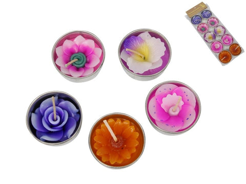 Scented Flower Candles in Gift Pack (10pc)