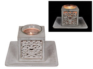 Decor Heart Filigree Tealight Holder in Gift Box (15cm)