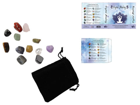 Spiritual Healing Gemstones in Book Design Gift Box