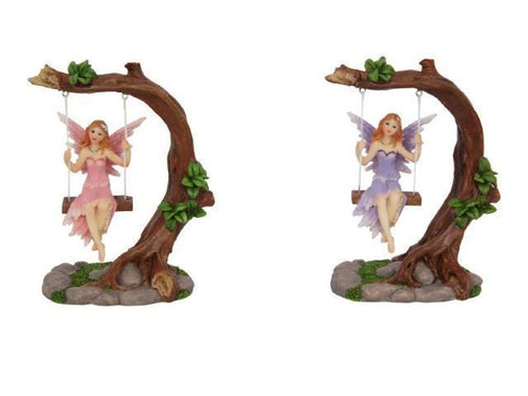 Fairy on Tree Swing Figurines (14cm)