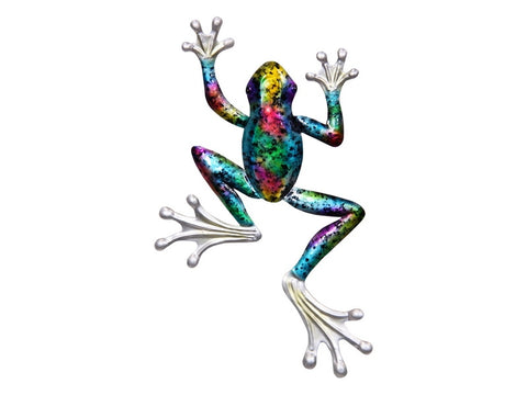 Metal Multi Coloured Frog Wall Art
