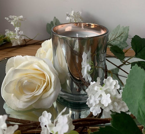 Scented Candles in Mirrored Jar (300gms)