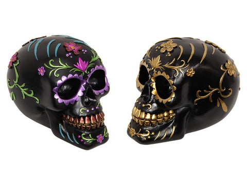 "Skull Head with ""Day of the Dead"" Design"