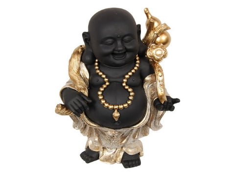 Black/Gold Happy Lucky Buddha (29cm)